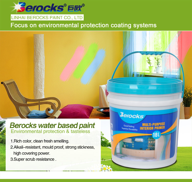 water based interior wall primer paint for children room18L