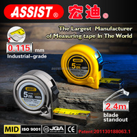 Quality and quantity assure waterproof wholesale custom retractable steel tape measure material function of measuring tools tape