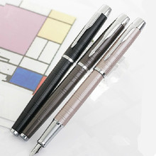 Paker Fountain Pen IM Series Grind Arenaceous Black Gold Clip Ink