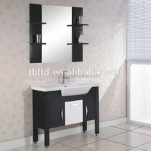 36 Inch White Traditional bathroom corner sink vanity