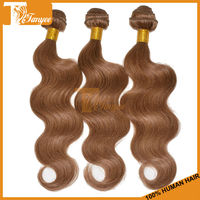High Quality 3pcs 14 Inch color 8 Grade 5A Body Wave Brazilian Remy Unprocessed Brazilian Human Virgin Hair