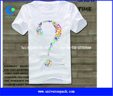 Fashion cheap used t shirt with heat press printing from ShenZhen