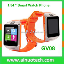 hotttest bluetooth smart watch GV08 android wrist watch mobile phone