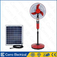 high quality 16inch or 18inch standing battery fan AC DC double use solar electric fans battery operated