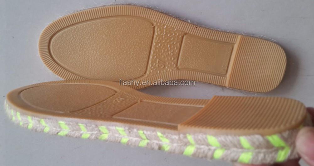 Zapatos al por mayor material del zapato suela suela para alpargatas yute 2016