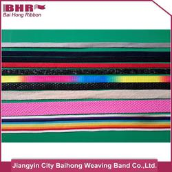 coloful varied polyester belt with low price