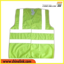 Summer use yellow safety vest guarantee of in time delivery