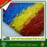25mm colored artificial grass rainbow turf for kindergarten