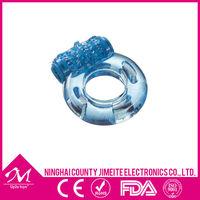 Single vibrating speed cork ring penis stimulator powered by 1-AG3/LR41 battery