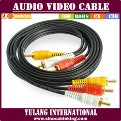 TOP QUALITY HIGH GRADE 3 RCA to 3 RCA AUDIO CABLE YL86210