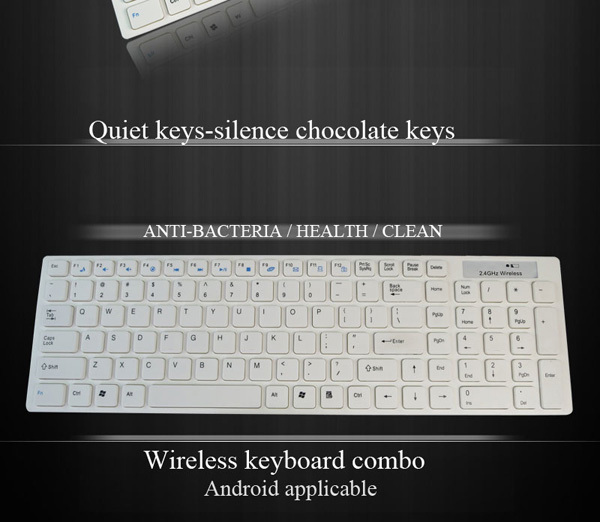 Trade Assurance CE RoHS slim keyboard 2.4g wireless keyboard and mouse combo
