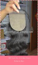 cheap large stock body wave lace 100% virgin brazilian silk base closure