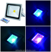 20w RGB led flood light die-casting aluminum warm white or cool white 10w-100w