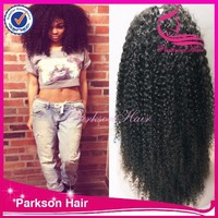 7A High Quality Kinky Curly Indian Remy Hair Glueless Virgin Human Hair Kinky Curly Full Lace Front Wig With Baby Hair