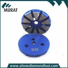 80mm Blue Color Metal Grinding Disc For Concrete Grinding