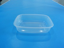 Rectangular Microwave Disposable Plastic Food Container 360ml