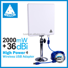 High-speed wireless connection and transmitting,2000mw/36dBi antenna/Desktop/laptop