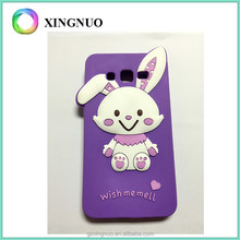 Factory Customized silicone rabbit animal shape purple color phone case for samsung G530