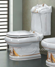 decoration washdown two piece toilet ceramic sanitaryware