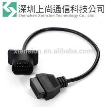 pin 17 a 16 pines obd2 diagnóstico adaptador de cable del escáner de código para mazda