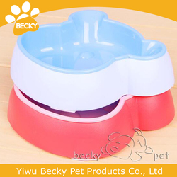 Custom made Anti-ant Plastic No-Slip Pet Dog Cat Food and Water Drink Double Bowl
