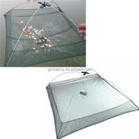 Size 100 x 100cm Foldable Crab Fish Crawdad Shrimp Minnow Fishing accessories Bait Trap Cast Net Cage Nylon