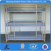 bed room furniture steel metal 3 deck bed hostel hotel loft bunk beds for adult