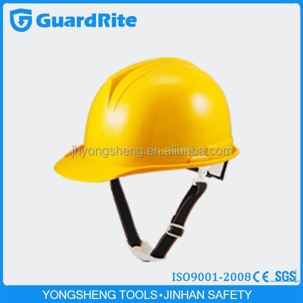 GuardRite brand four point liner yellow safety helmet