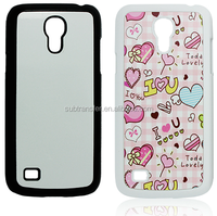 High quality cell phone case/ Blank mobile case with 2D sublimation/ 2D Plastic sublimation phone case for S4 mini