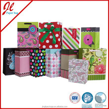 Recycled Luxury Paper Gift Bags with paper handle