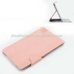 2014 New arrival good hand feeling 7/8 inch with nice standing case for ipad mini (pink)