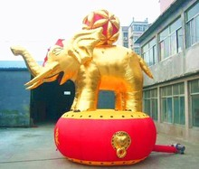 Custom Made Giant Inflatable Elephant with Chinese Hydrangea, inflatable animals