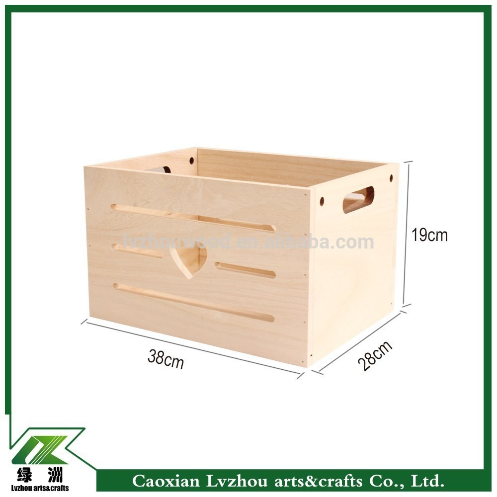 New Design Wood Storage Crate With Reasonable Price