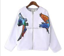 Z51664B new women jacket coat winter warm clothes flower jacket beautiful print basketball pullover jackets coat