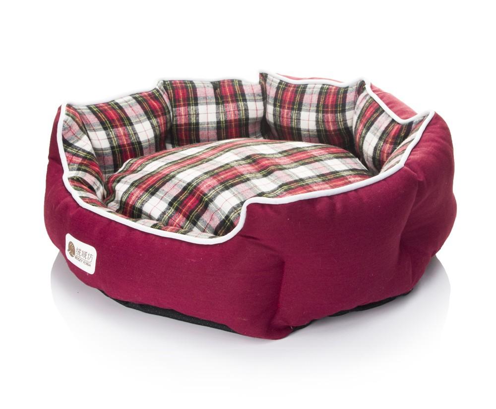 Rechteck runde warm rosey rot luxus hund bett großhandel bett und ...