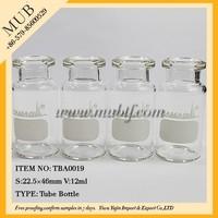 12ml transparent heat resistant glass test tube empty disposable tubular drug bottle vial