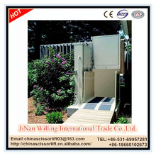 6m handicapped wheel chair lift with low price