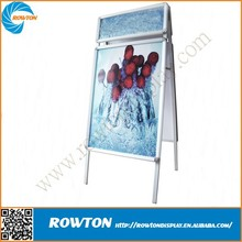 Portable outdoor sidewalk sign a board poster stand