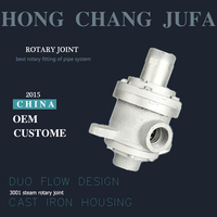 Cast Iron swivel threaded connector 1 inch rotating union rotary joints for hot oil steam water air