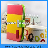 couple color cover case for samsung galaxy s4 universal smart phone wallet style leather case