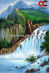 New waterfall landscape oil painting