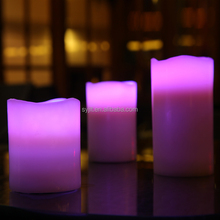 2015 Hot Sell Flameless Real Wax Led Candle/Smart Flame Candle/Taper Led Candle