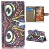 Owl Pattern Silk Pattern Magnetic Flip Stand animal case for lg g3 mini