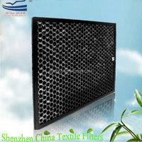 Plastic honeycomb active carbon odor remove filter