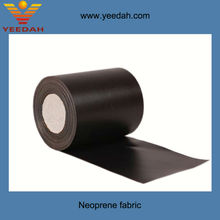Slitted roll of fiberglass cloth coated with neoprene rubber