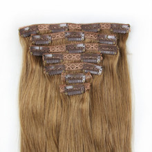 High quality clip in remy brazilian human hair extension