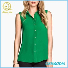 Ladies Summe Wear New Design Casual Wear Sleeveless Blouses