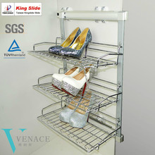 Slide out shoe rack for closet with Kingslide slide
