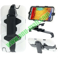 Drop Dual Layer Silicone + Plastic Combination Case with Holder & 180 Degree Rotatable Belt Clip for Samsung Note 3 / N9000
