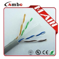 High quality 23AWG 0.57mm Soild Bare coper CMP cat6 cable network